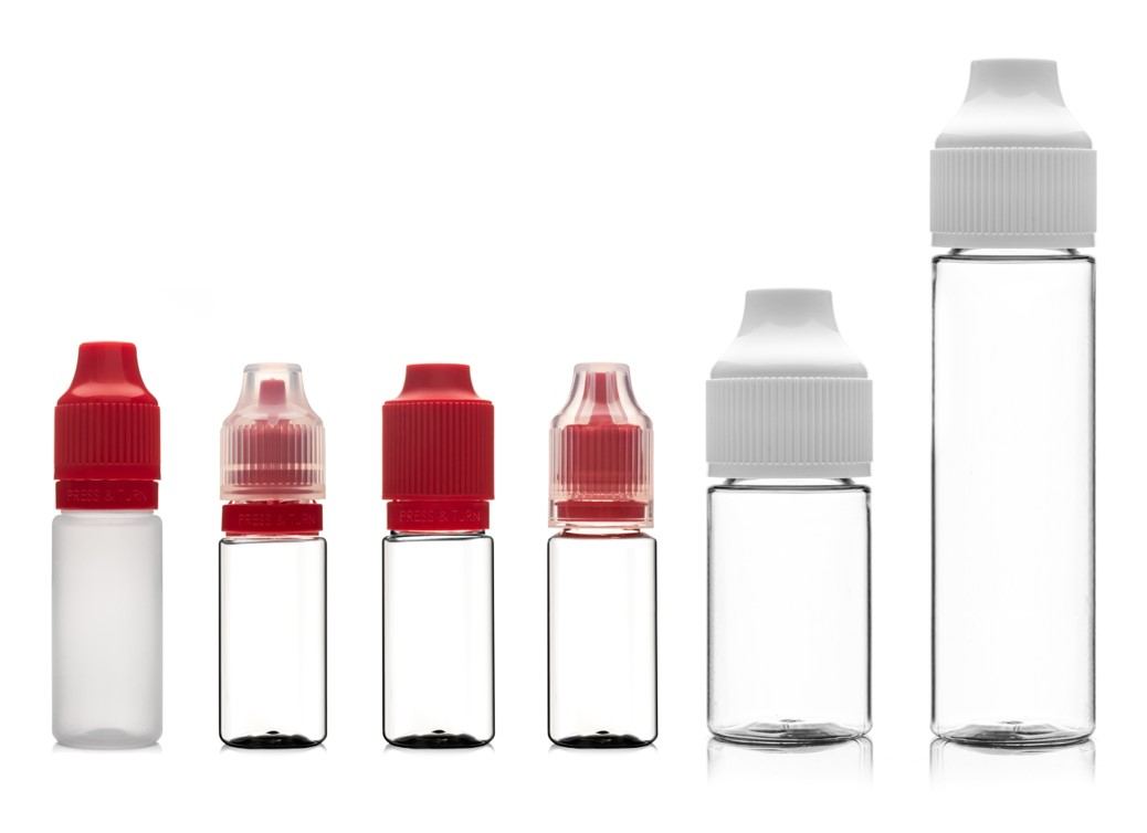 Primary packaging for e-liquid white label products