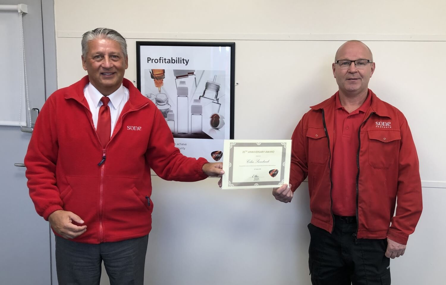 ​Colin Swinbank celebrates 35 years' service at SONE
